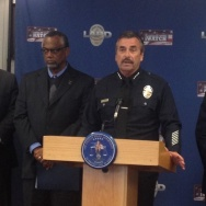 LAPD Chief Charlie Beck addresses the media at a press conference over the Ezell Ford shooting.