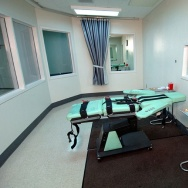The lethal injection room at San Quentin Prison in California.