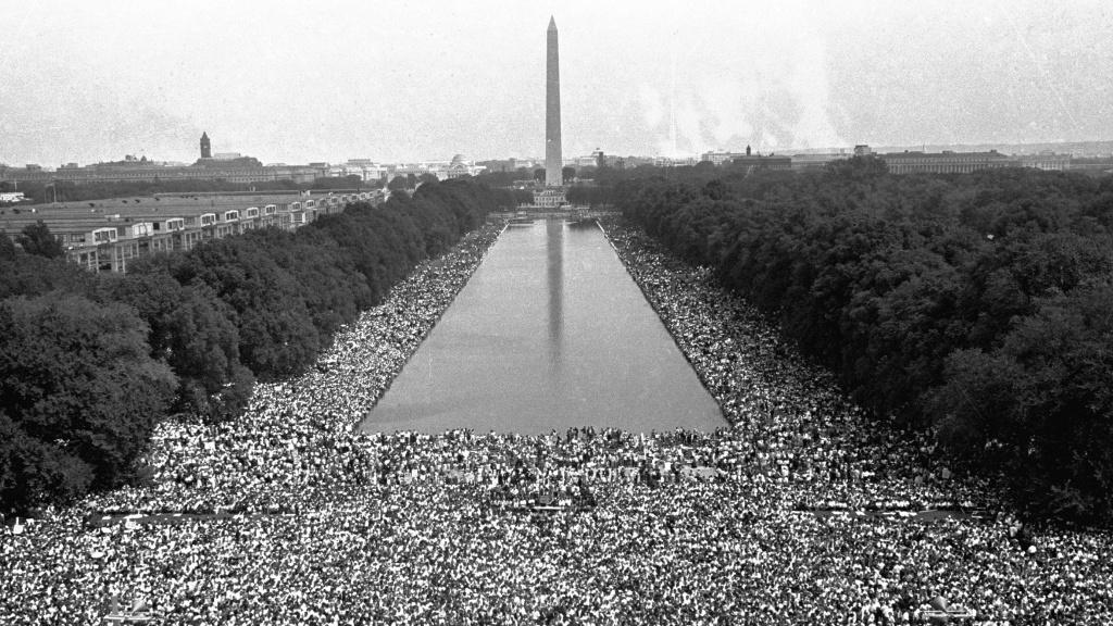 washington march freedom jobs monument 1963 mlk crowds speech front impact dream called during wide npr got gather take civil