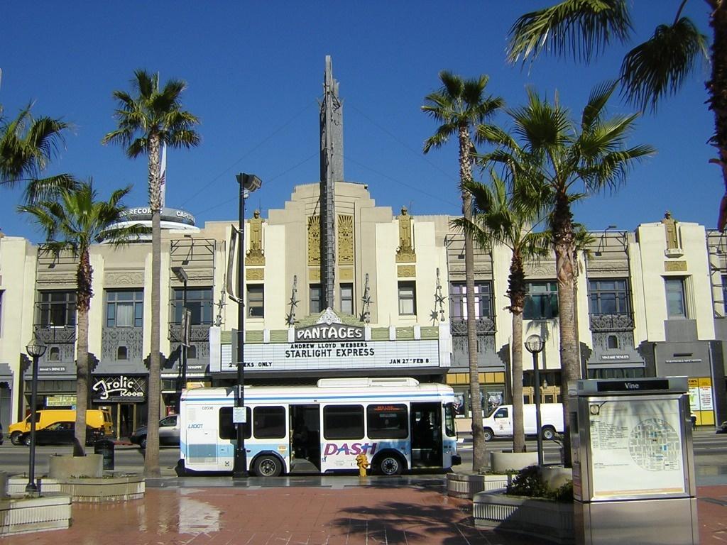 LADOT Dash Bus at Hollywood/Vine station.