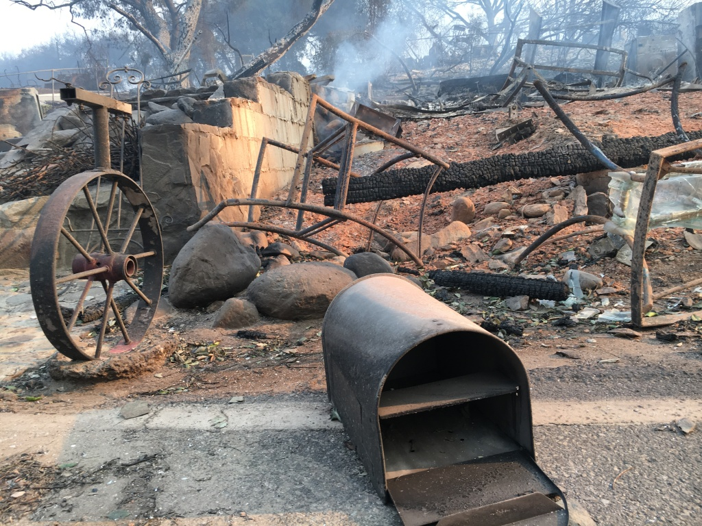 The Thomas Fire burned the main office at the KOA Ventura Ranch Campground near Steckel Park.