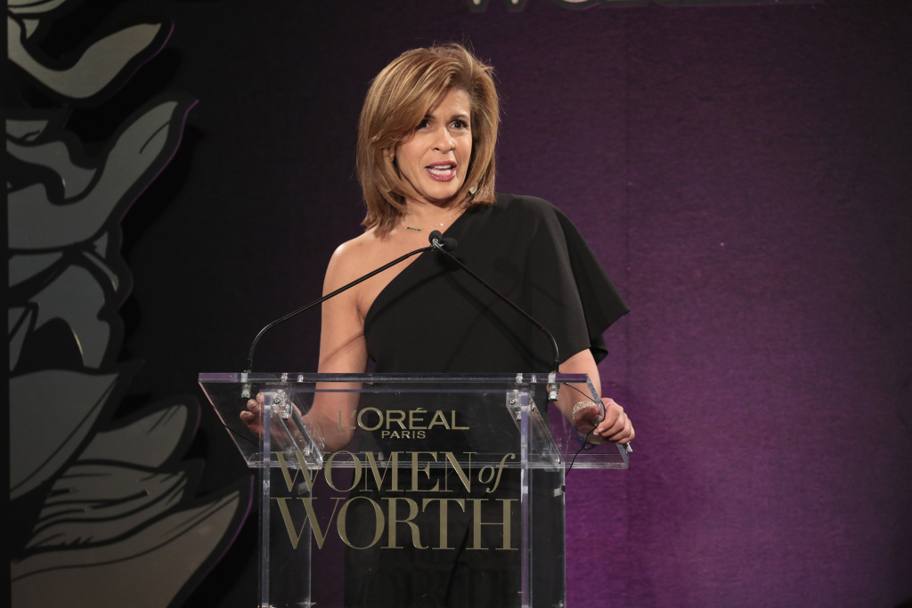 In this file photo, Hoda Kotb speaks onstage during the L'Oreal Paris Women of Worth Celebration 2017 on December 6, 2017 in New York City. Kotb has been appointed the new co-host of the