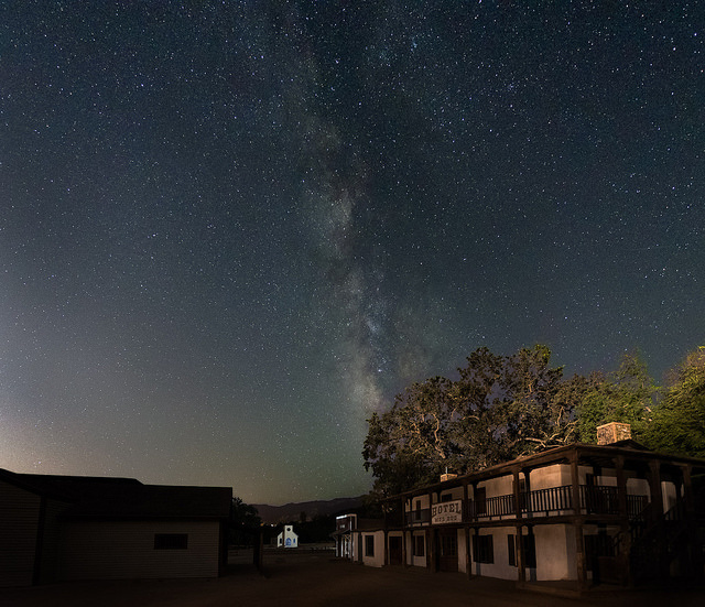 The night sky at Paramount Ranch in Agoura. Photo taken on the evening of September 2, 2016