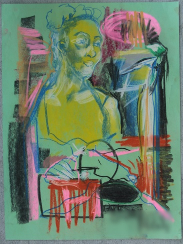 An abstract figure drawing from high school artist Omar Wiseman. This piece is part of his portfolio, which one him the top prize in the 2015 Scholastic Art & Writing Awards competition.