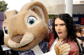 Actor Russell Brand arrives at the premiere of Universal Pictures and Illumination Entertainment's 'HOP' at CityWalk on March 27, 2011 in Universal City, California.