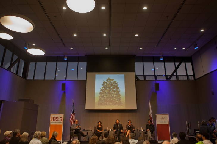 AirTalk's Chicano art live event at Southern California Public Radio's Crawford Family Forum.