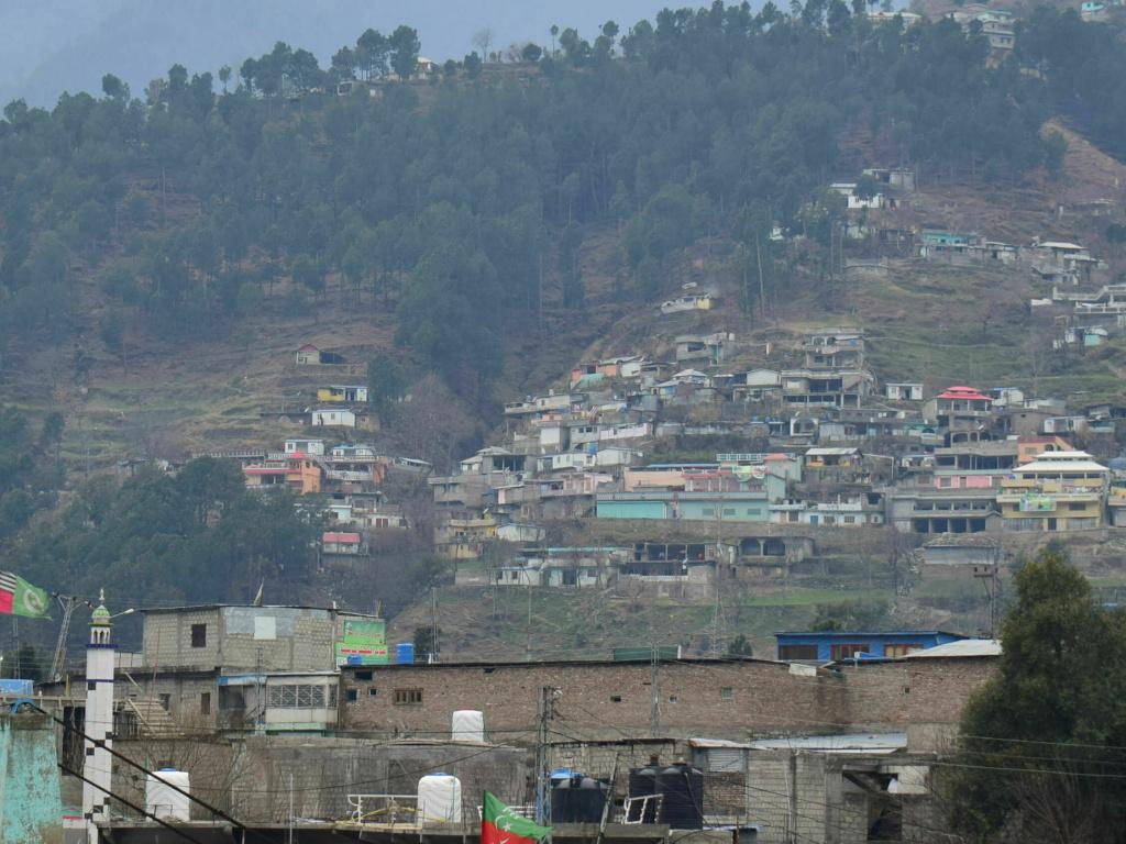 A view of Pakistani village Balakot, Pakistan, Tuesday, Feb. 26, 2019. Maj. Gen Asif Ghafoor, a military spokesman, said the Indian