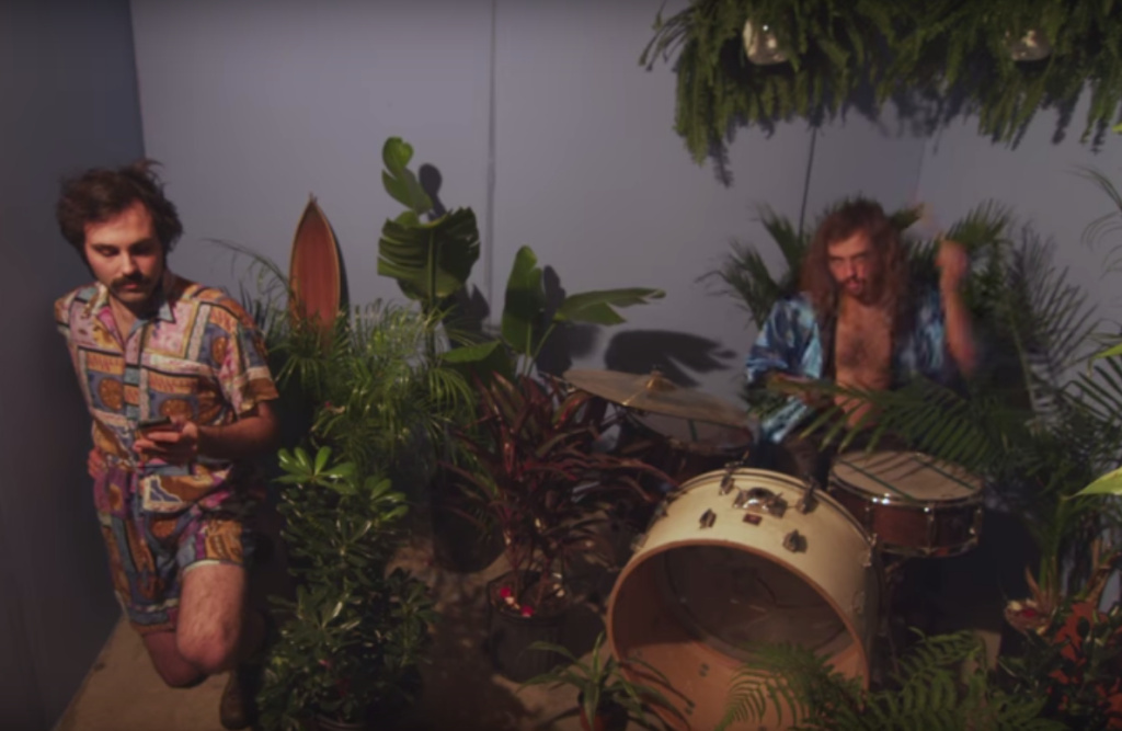 A still from the music video for