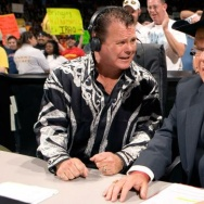 "Jerry ""The King"" Lawler with Jim Ross."