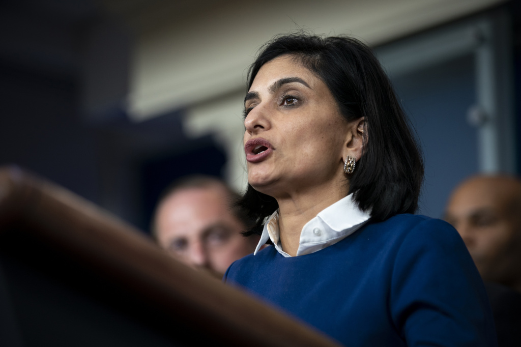 Seema Verma, administrator of the Centers for Medicare and Medicaid Services (CMS), speaks during a news conference in Washington, D.C., Tuesday, March 10th, 2020.