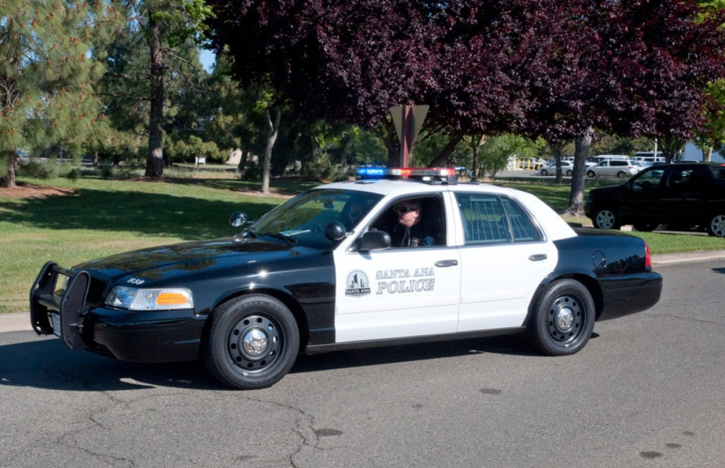 A Santa Ana police cruiser. Carlos Rojas officially became the department's new chief this week.