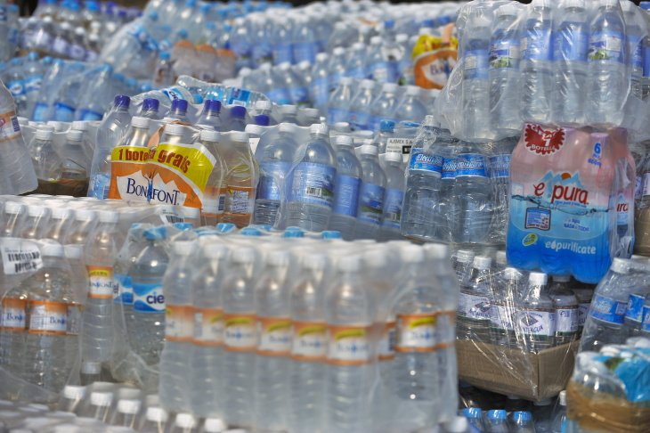 Bottled water to be sent to Haiti on Jan