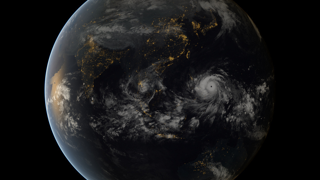 From space, Typhoon Haiyan was almost beautiful. <a href=