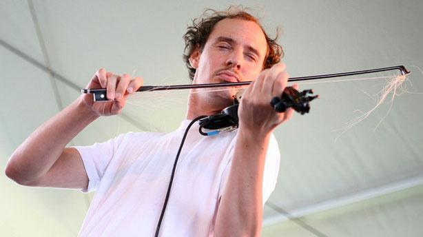 Folk-punk band O'Death performs at the 2010 Newport Folk Festival.