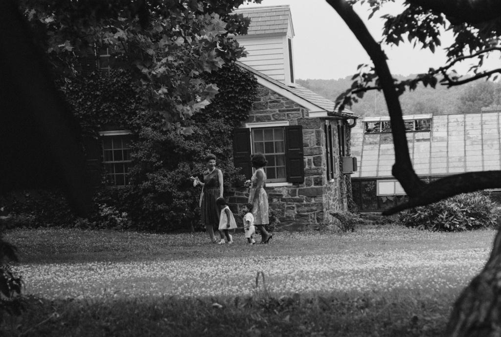 Children and their adoptive parents at Welcome House, Green Hills Farm, near Perkasie, Pennsylvania, USA, 1962.