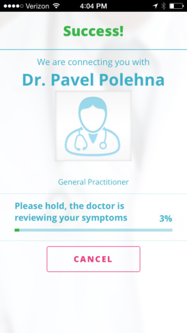 Doctor on Demand waiting screen