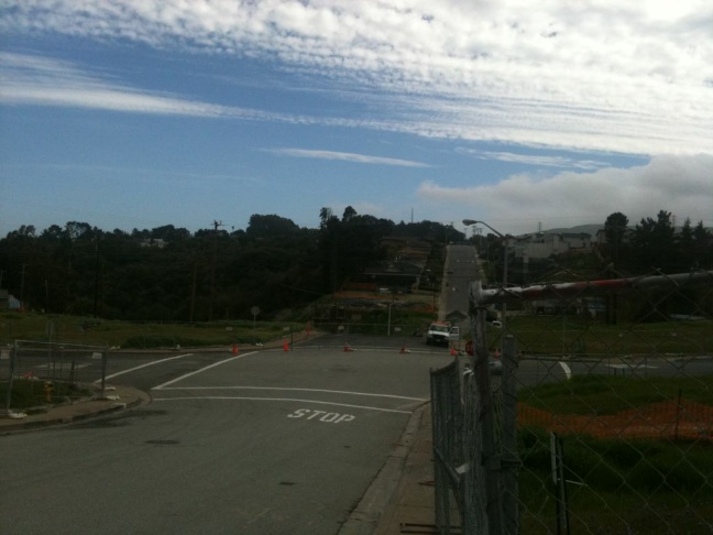 The San Bruno blast site, nine months after the explosion that killed 8 people.