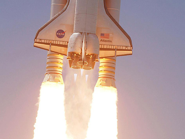 Space shuttle Atlantis soars to orbit. The government's space shuttle program concluded its final mission in July, but Southern California has a large community of private astronauts working on commercial space travel.