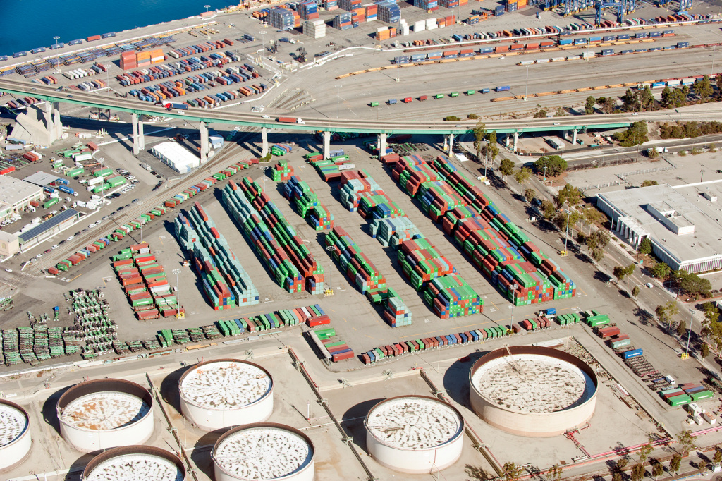 Imports declined 3.3 percent at the Port of Los Angeles in October and .8 percent at the Port of Long Beach (pictured) compared to last year.