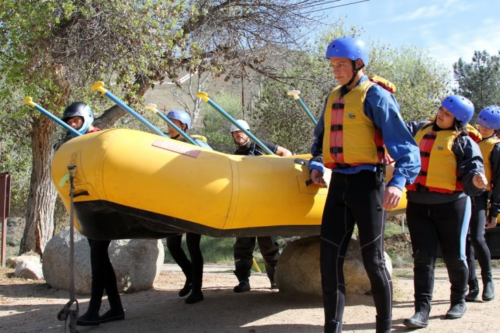 Rafting guides with Sierra South Paddle Sports learned about river rescues, how to load and unload rafts and other skills along the Kern River this week.