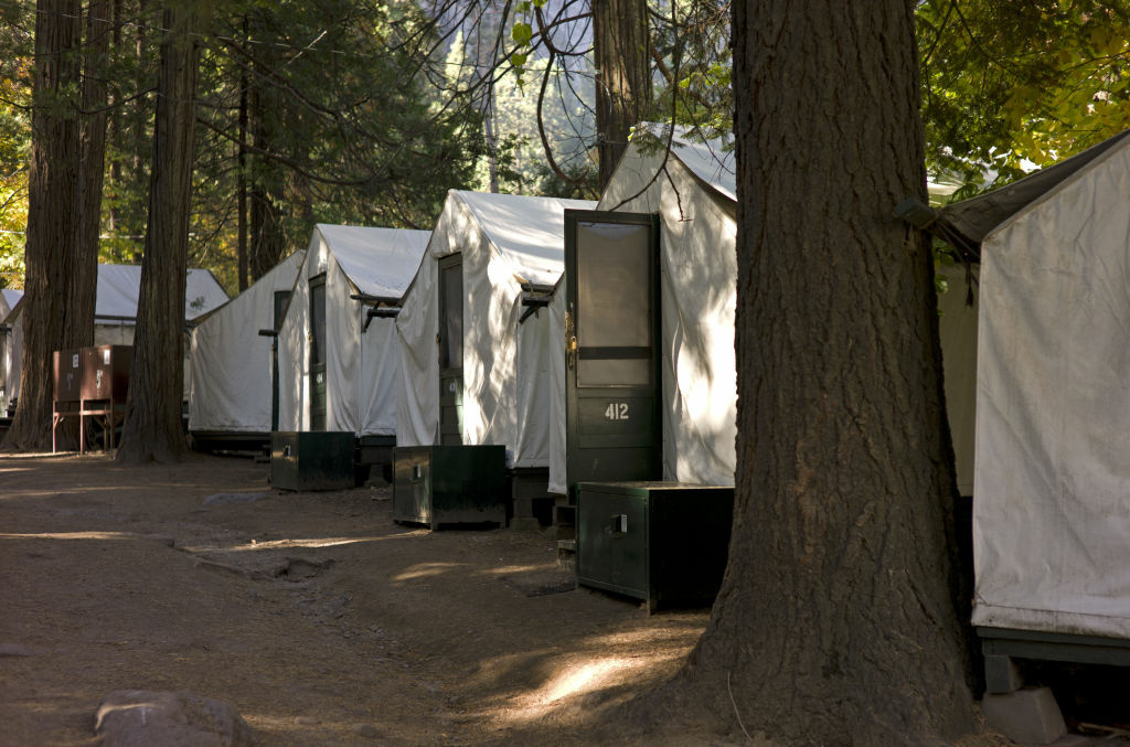 In this photo from Sunday Oct. 23, 2011, tents are seen in Curry Village in Yosemite National Park, Calif.Testing by the Centers for Disease Control and the California Department of Public Health showed the virus was present in fecal matter from deer mice trapped in Curry Village, an historic, family-friendly area of cabins.