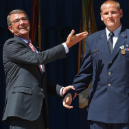 Secretary Of Defense Carter Honors French Train Attack Heroes At Pentagon