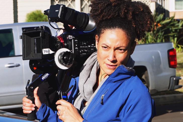 Cinematographer Kira Kelly at work.