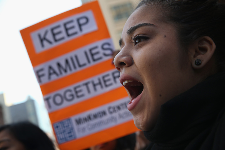 Activists Demonstrate For Immigration Reform Outside Detention Center In New York