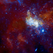 This image from NASA's Chandra X-ray Observatory shows the center of our Galaxy, with a supermassive black hole known as Sagittarius A* (Sgr A* for short) in the center.