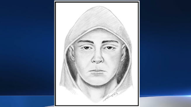 A sketch of a suspect possibly connected with the murder of Assemblyman Mike Gatto's father, Joseph Gatto.