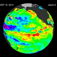 El Niño satellite image
