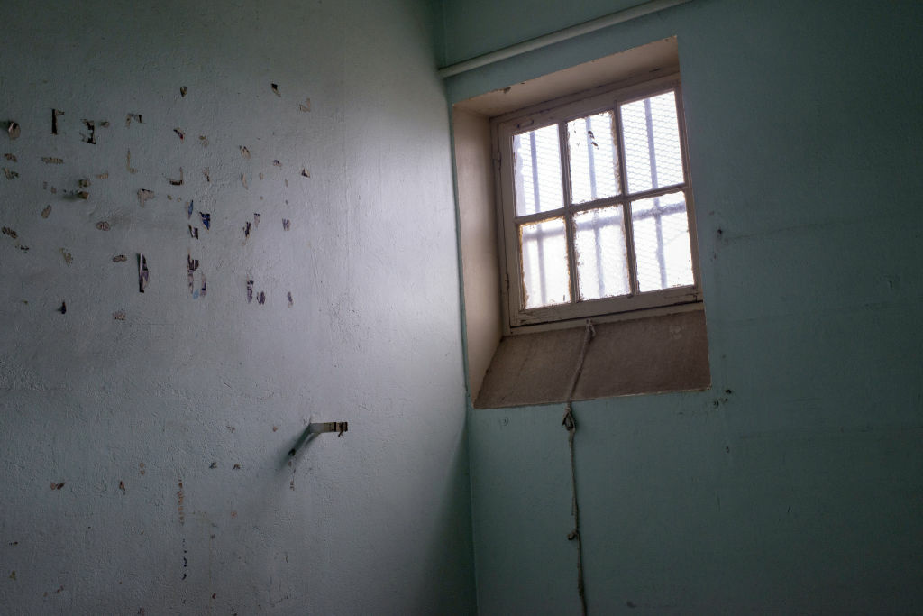 A general view taken on November 16, 2012 shows a cell in the former Saint-Joseph prison in Lyon.