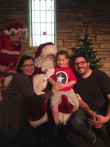 Angie Sanders' family photo with Santa...at a free community event