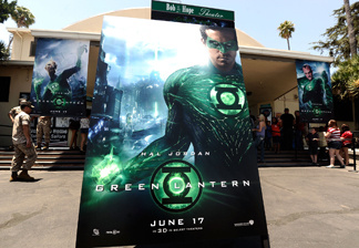 A general view of the atmosphere at a special screening of 'Green Lantern' at Marine Corps Air Station Miramar on June 16, 2011 in San Diego, California.