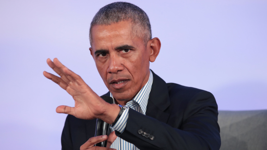 Former President Barack Obama, here at a Chicago event in October, has weighed in on the aftermath of George Floyd's killing, saying those who've resorted to violence put