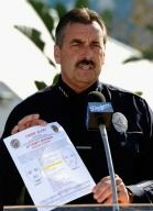 LAPD Chief Charlie Beck briefs the public on the search for suspects involved in the brutal beating of Bryan Stow at Dodgers stadium. A suspect was arrested May 22, 2011.