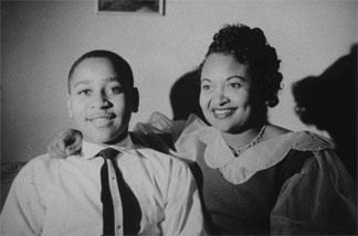 Emmett Till and his mother