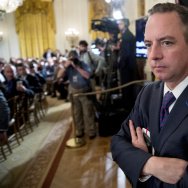 As President Trump's chief of staff, Reince Priebus attends an Air Traffic Control Reform Initiative event at the White House on June 5.