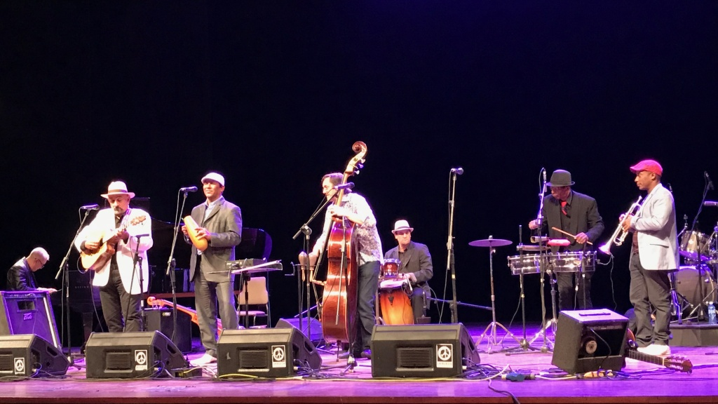 The jazz festival in Havana features international collaborations that this year included Spanish bassist Javier Colina and Cuban guitarist Pancho Amat (far left).