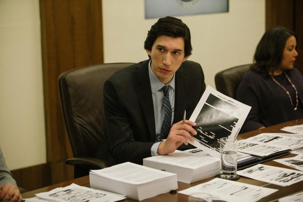 Adam Driver plays Senate investigator Daniel J. Jones in