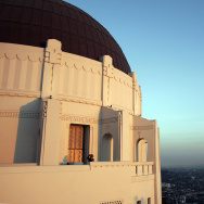 A person visits the Griffith Observatory