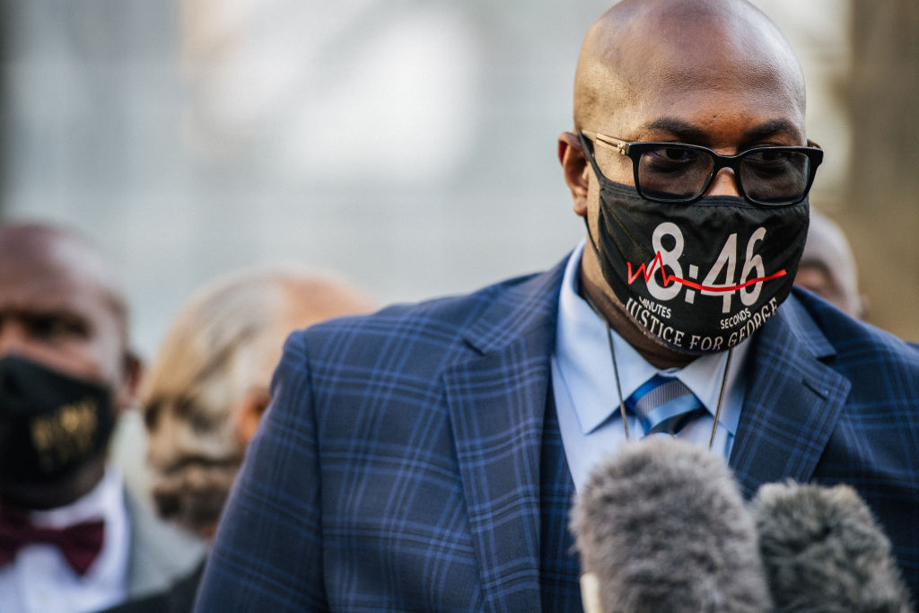 Philonise Floyd, brother of George Floyd, speaks during a news conference outside the Hennepin County Government Center on March 29, 2021 in Minneapolis, Minnesota.