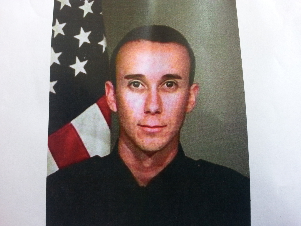 San Bernardino Police officer Gabriel Garcia was severely injured in a shootout early Friday morning.