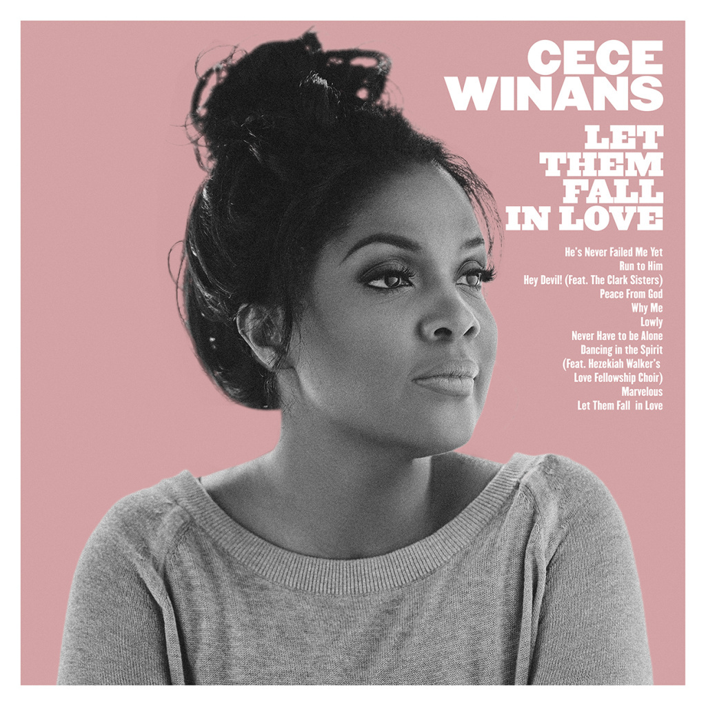 Cover art for the new Cece Winans album, Let Them Fall in Love. We reviewed the single, Lowly.