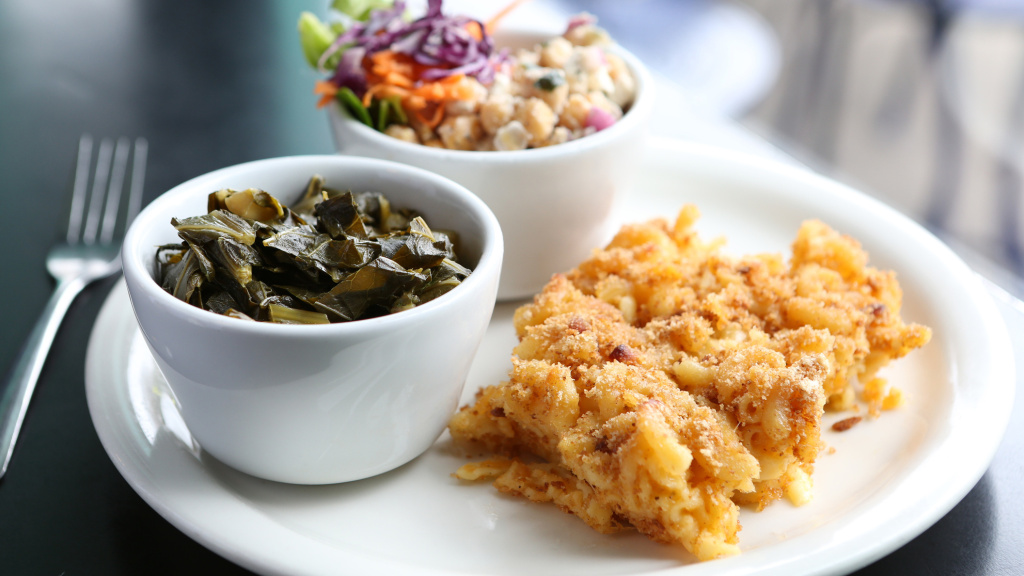 If you're Southern, the macaroni and cheese with collard greens may taste better to you than to someone from another culture.