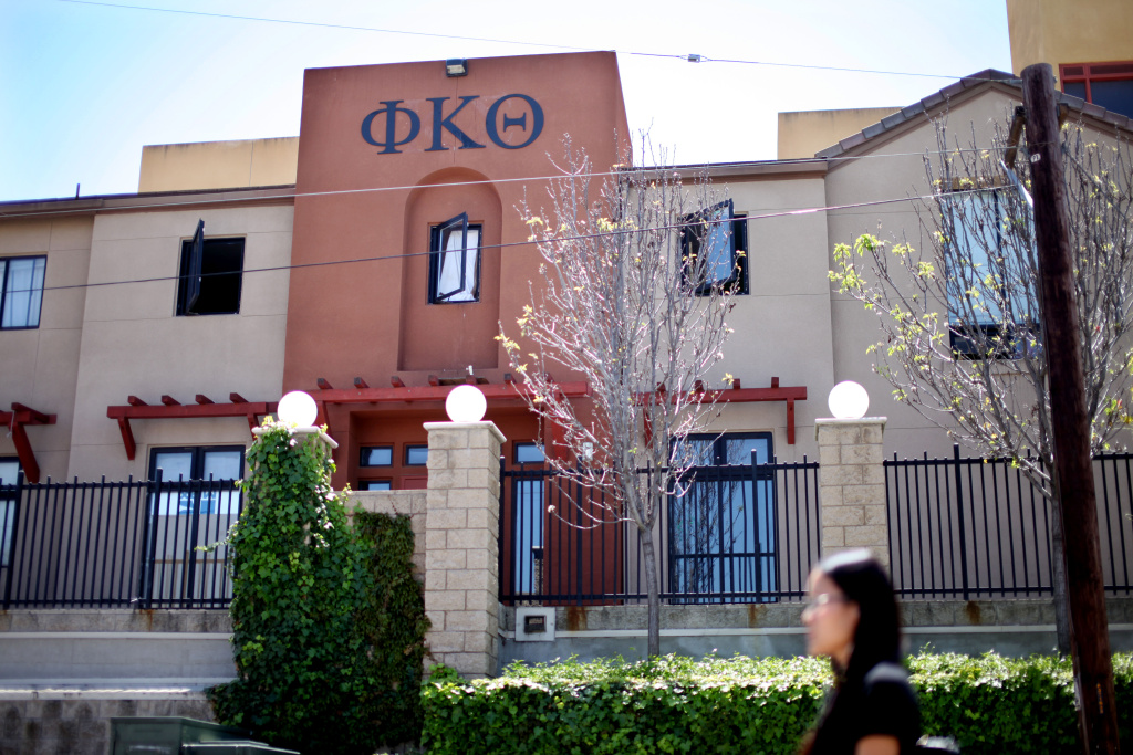 Phi Kappa Theta Fraternity house at San Diego State University. What benefits do fraternities provide to the students who take part in them?