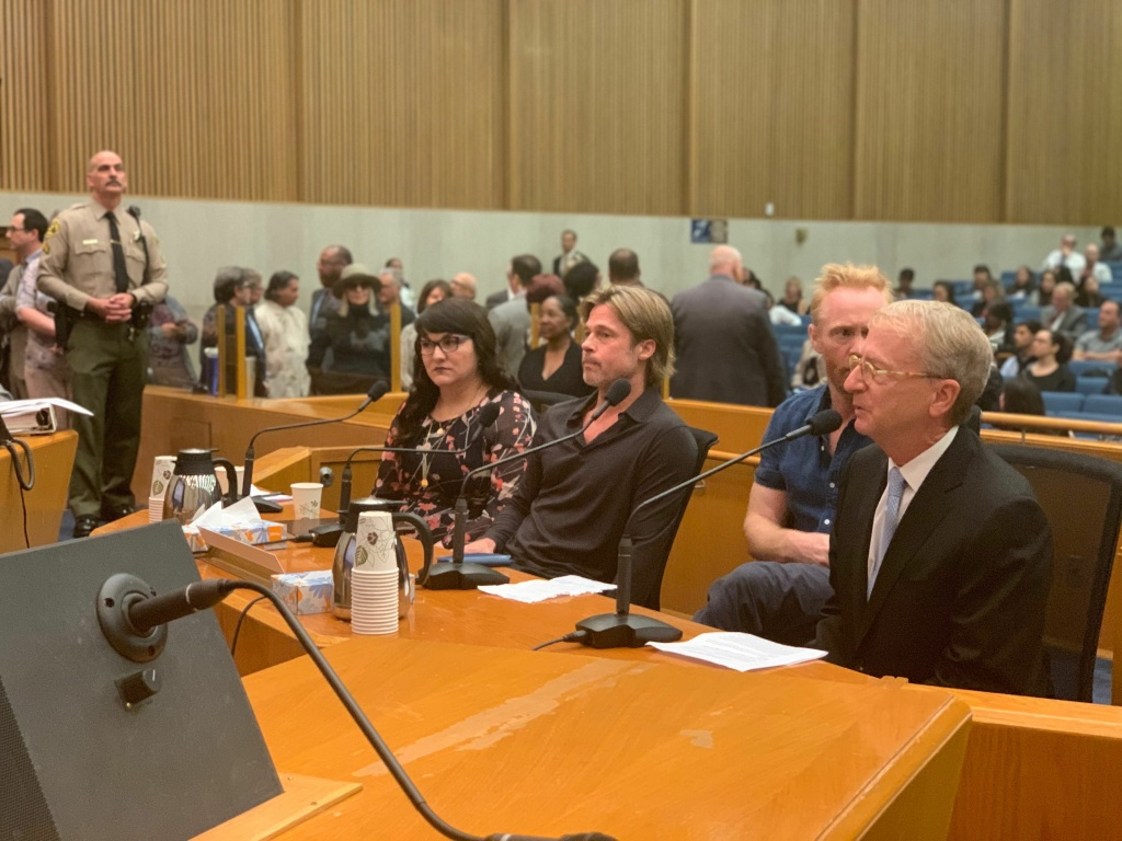 Actors Brad Pitt and Diane Keaton turned up at the L.A. County Board of Supervisors meeting to speak in public comment in support of LACMA's new building design.