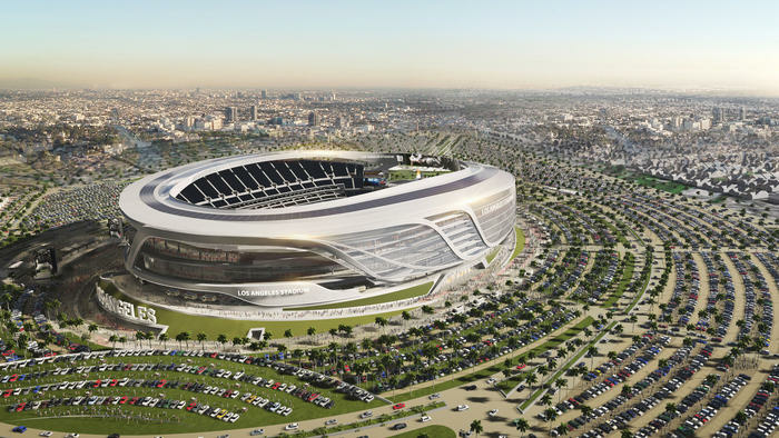 The revamped plans for the $1.7 billion joint stadium proposal by the two teams were released Thursday.