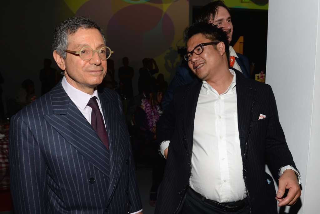 Jeffrey Deitch (L) attends MOCA Gala 2013, Celebrating the Opening of the Exhibition Urs Fischer, at MOCA Grand Avenue and The Geffen Contemporary on April 20, 2013 in Los Angeles, California.