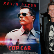 "NEW YORK, NY - JUNE 21:  Kevin Bacon attends the premiere of ""Cop Car"" during BAMcinemaFest 2015 at the BAM Peter Jay Sharp Building on June 21, 2015 in New York City.  (Photo by Rob Kim/Getty Images)"